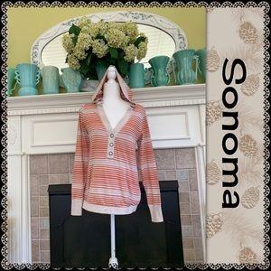 Sonoma hooded V-neck sweatshirt, size S